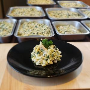 Poisson et épinards style risotto